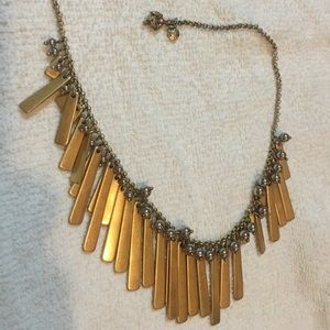 Jcrew necklace in gold and silver